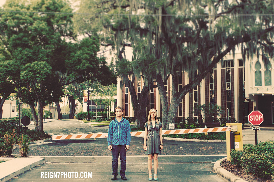 Joel & Brittany's University of Tampa Engagement Session
